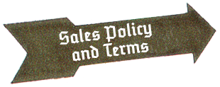 Sales Policy and Terms